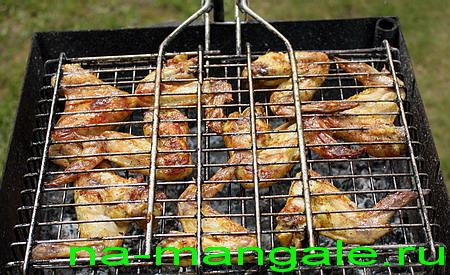 Куриные крылышки гриль
