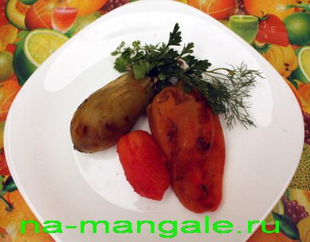 Порция печёных овощей