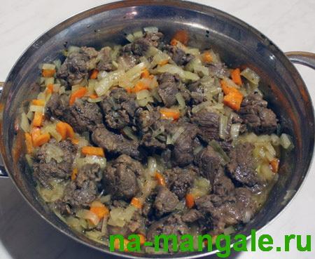 Тушим мясо бобра