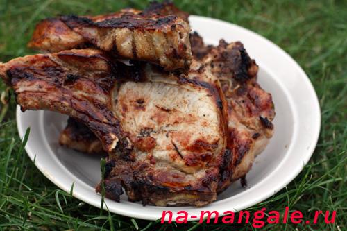 Свиная корейка на кости