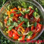 Салат с каперсами и печеными овощами
