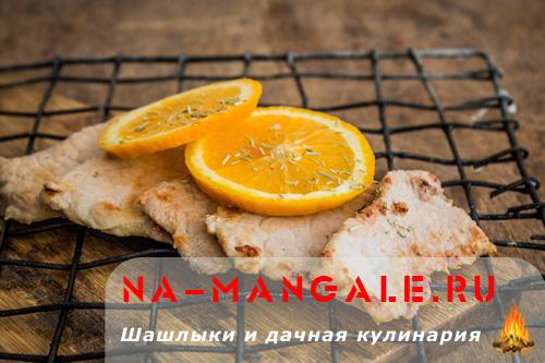 Свинина в апельсиновом маринаде