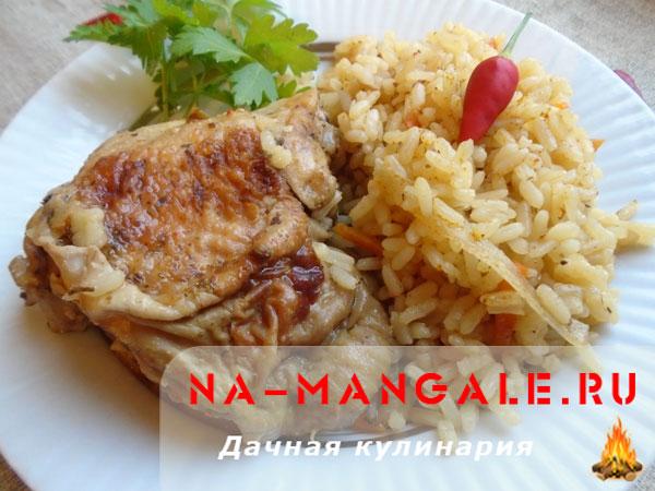 Рецепт риса с овощами и курицей пошагово в мультиварке