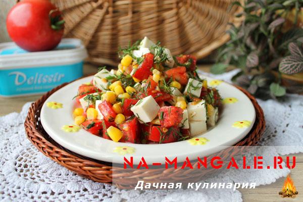 рецепт салата из маслин с сыром