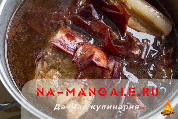 Щековина в луковой шелухе рецепты с пошагово