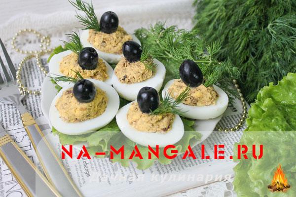 Рецепты фарширования куриных и перепелиных яиц