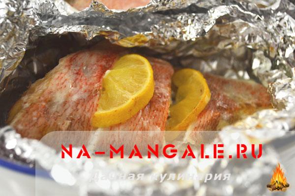 красный морской окунь рецепты приготовления в духовке