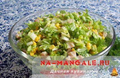 рецепты салатов с копченой куриной грудкой с фото