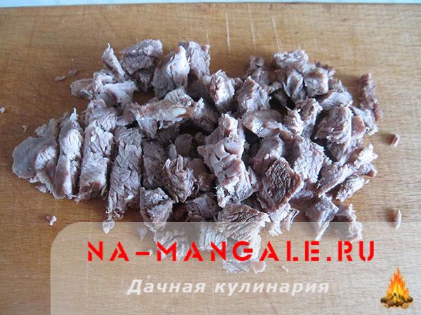 рецепт салата болгарский перец курица грибы
