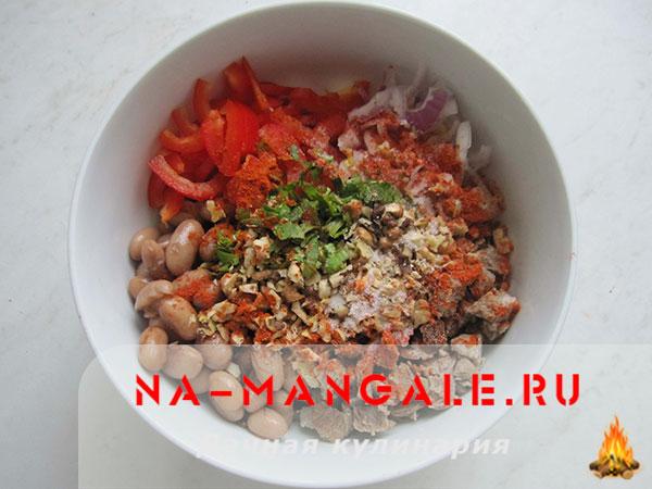 рецепт салата куриное филе болгарский перец