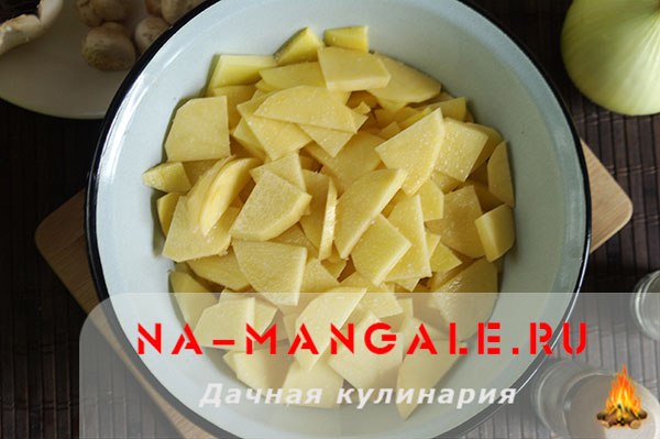 как приготовить картошку с печенью в горшочках