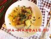 Миниатюра к статье Лучшие рецепты картошки с грибами в сметане