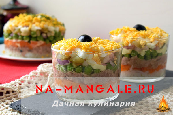 Варианты салатов на основе печени трески