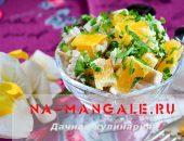 Рецепты приготовления салатов из апельсина и курицы
