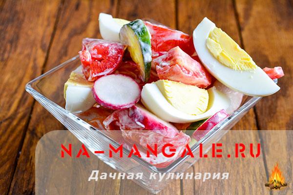 Рецепты вкусных простых салатов на основе редиски