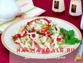 Миниатюра к статье Легкий фитнес салат с пекинской капустой и болгарским перцем