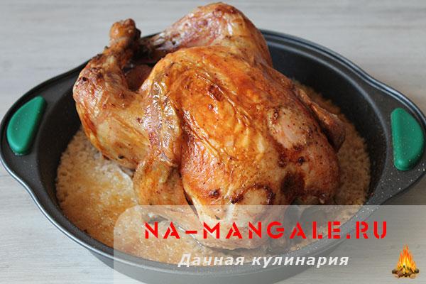 курица в мультиварке запеченная рецепт