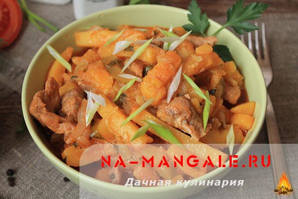 Азу из свинины по татарски рецепт с фото