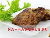 Миниатюра к статье Вкусный и нежный стейк: жареная говяжья печень на сковороде