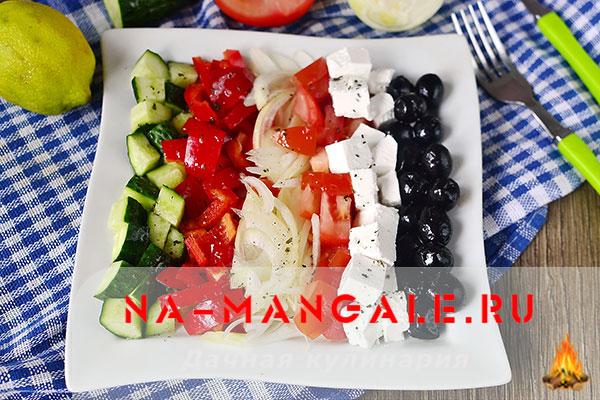 рецепт салата греческий классический в домашних