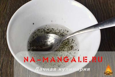 Соус для греческого салата с растительным маслом