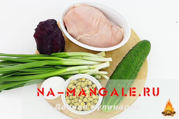вкусный салат с копченой куриной грудкой рецепт