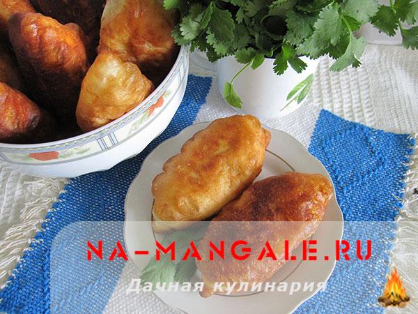 пирожки с картошкой жареные рецепт на воде без дрожжей