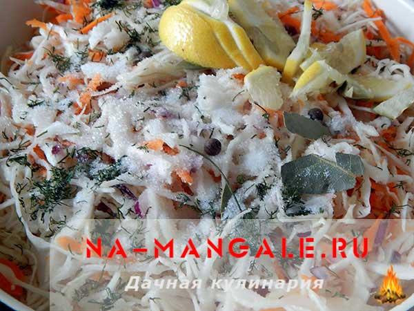 капуста маринованная с лимонной кислотой быстрого приготовления