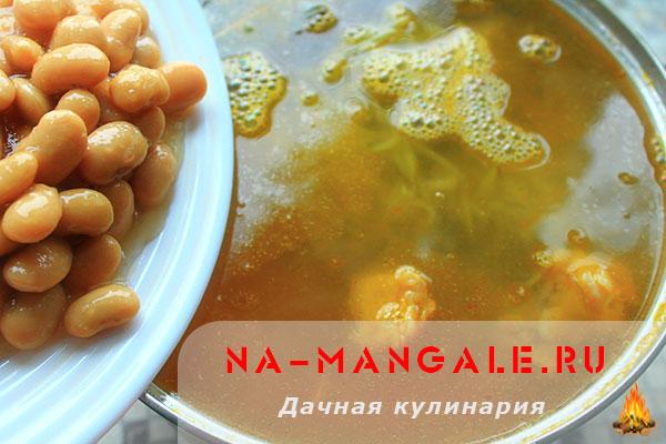 Рассольник с фасолью и солеными огурцами рецепт пошагово 53