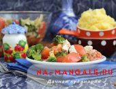 Миниатюра к статье Вкусный салат с капустой брокколи, помидорами и фетаксой