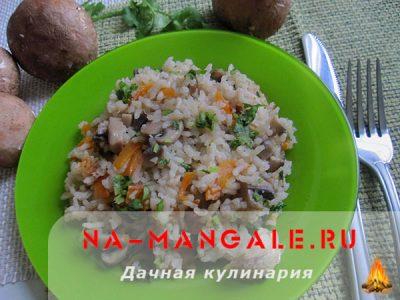Как вкусно приготовить грибы и рис?