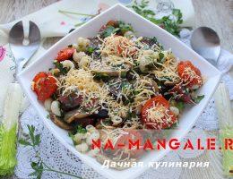 Баклажаны с макаронами и сыром