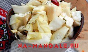 Миниатюра к статье Маринованная капуста кусочками быстрого приготовления: рецепты на зиму и не только