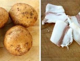 Картофель и сало