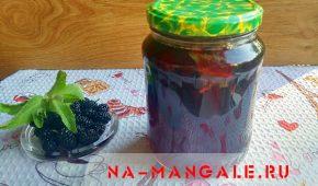Миниатюра к статье Кисло-сладкий компот из шелковицы и мяты на зиму
