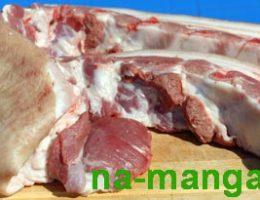 Отруб свиные рёбра со шкурой
