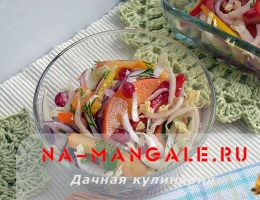 Рецепты салатов на основе хурмы