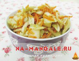 Овощной салат из пекинской капусты и корейской моркови