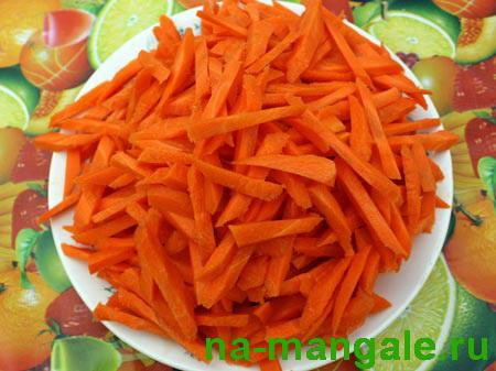 Морковь соломкой.