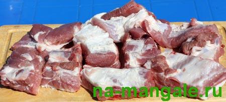 Свиные ребрышки порционно