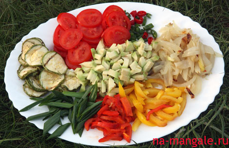 Овощи для фахитас