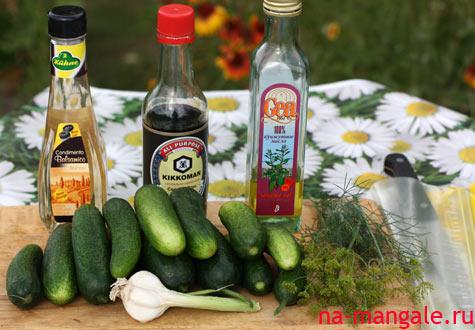 Огурцы и ингредиенты