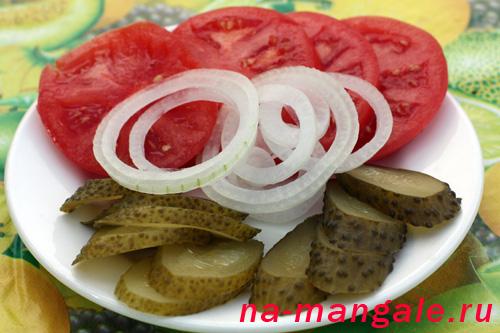 Овощи для гамбургера