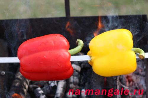 Перцы на шампуре