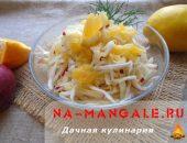 Рецепт салата из свежей капусты, яблок и апельсина
