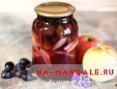 Рецепты вкусных компотов на основе слив и яблок
