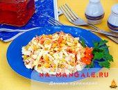 Миниатюра к статье Лучшие рецепты салатов с курицей и пекинской капустой