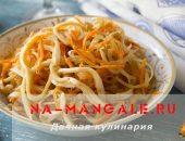 Миниатюра к статье 6 рецептов салатов с корейской морковкой и кальмарами