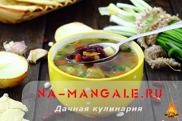 Рецепты постных супов из фасоли