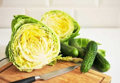 Рецепт салата с капустой и огурцами